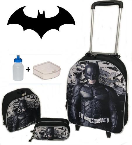 kit mochila infantil rodinhas heroes batman jr 2019