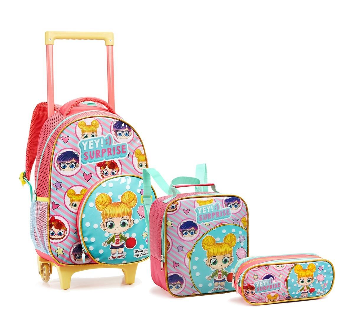 53fe28721a kit mochila infantil rodinhas surprise carrinho 13919 oferta. Carregando  zoom.