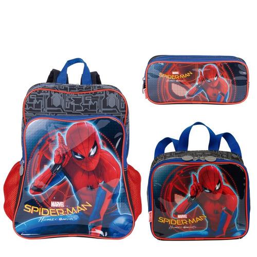 kit mochila+ lanche+ estoj homem aranha/ spider man- 65062
