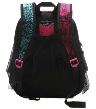 kit mochila + lancheira monster high g com asas - 64193