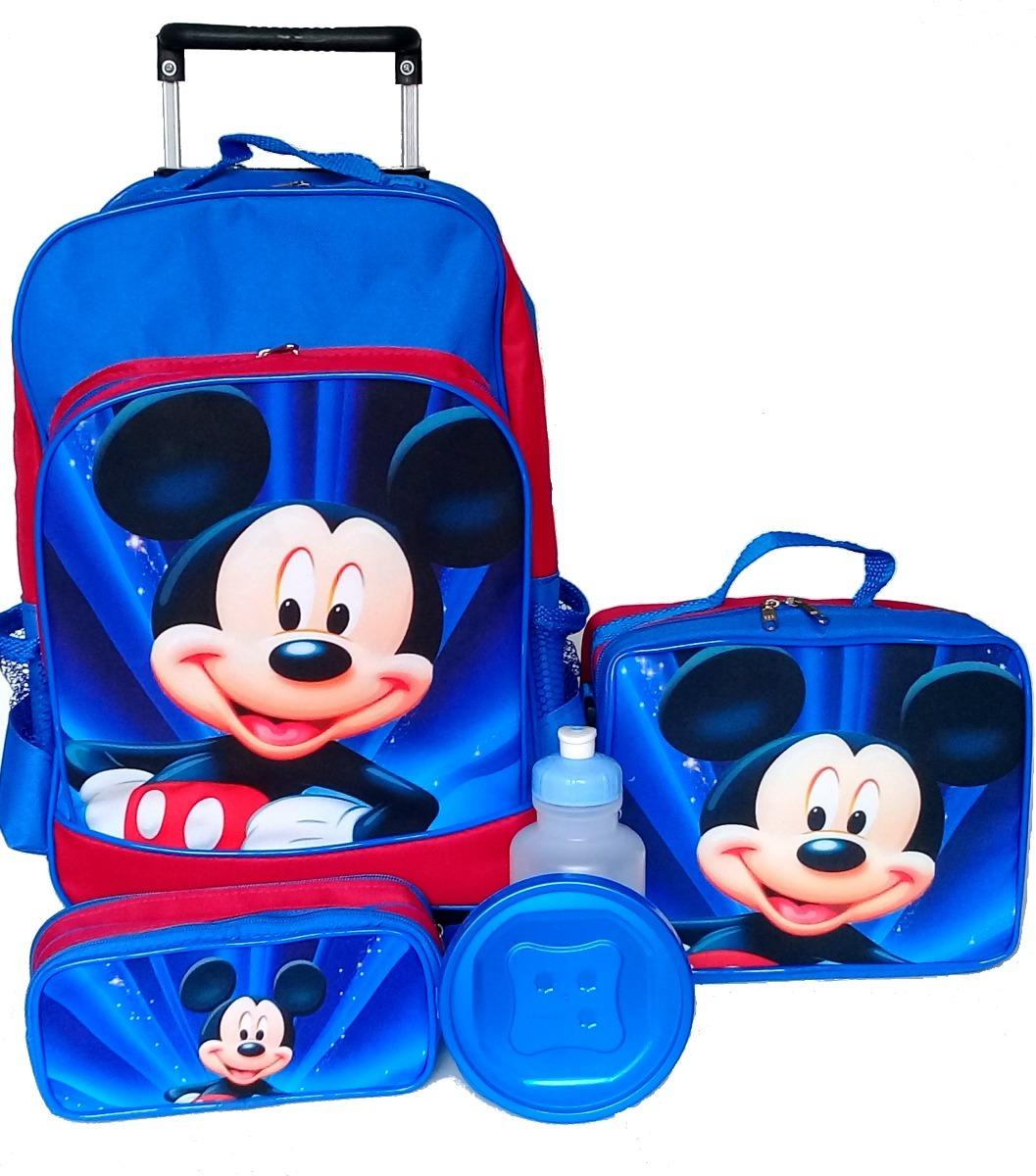 06057312b11d23 kit mochila mickey mouse rodinhas + lancheira + estojo g. Carregando zoom.