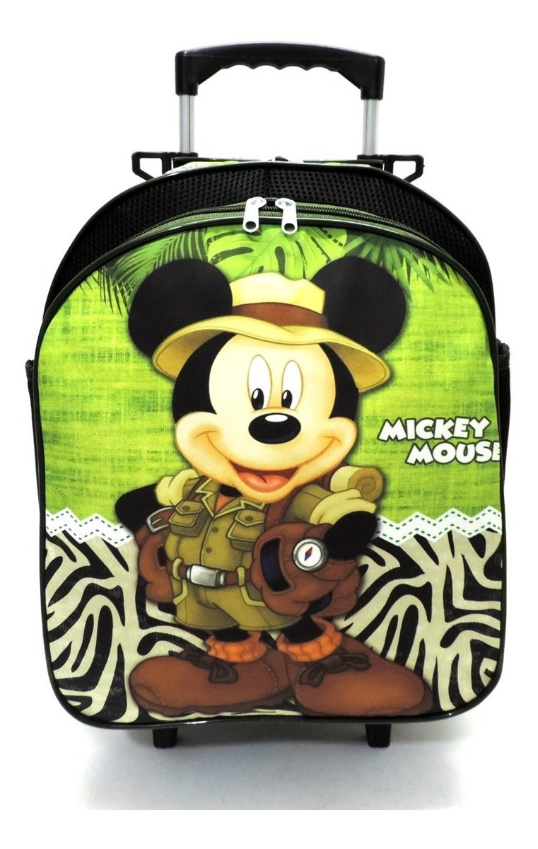 8b74ed575c506f kit mochila mickey mouse safari rodinhas tam m + lancheira. Carregando zoom.