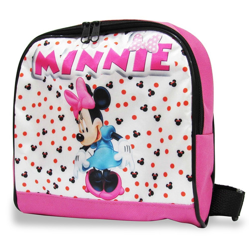 kit mochila minnie mouse rodinhas + lancheira tam (m)