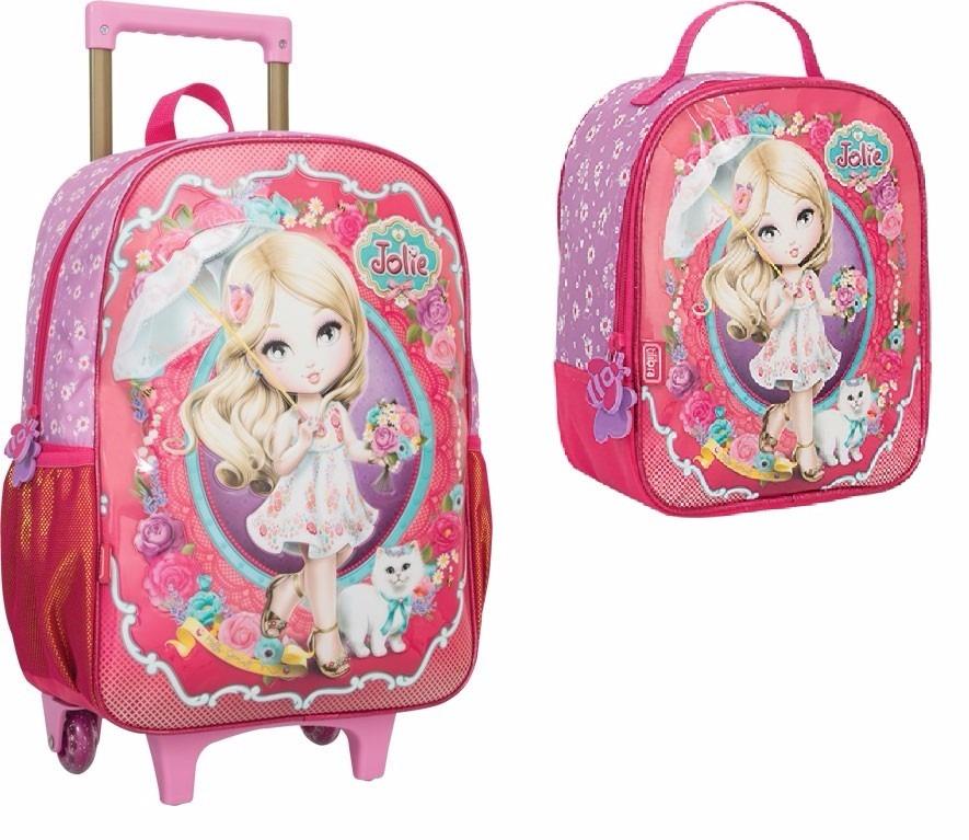 fa03c222b7 kit mochila rodinha e lancheira jolie loira escolar grande. Carregando zoom.