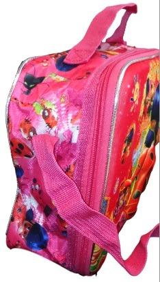 e1643dd22 Kit Mochila Rodinha G, Lancheira 3d Ladybug, Estojo E Brinde - R ...