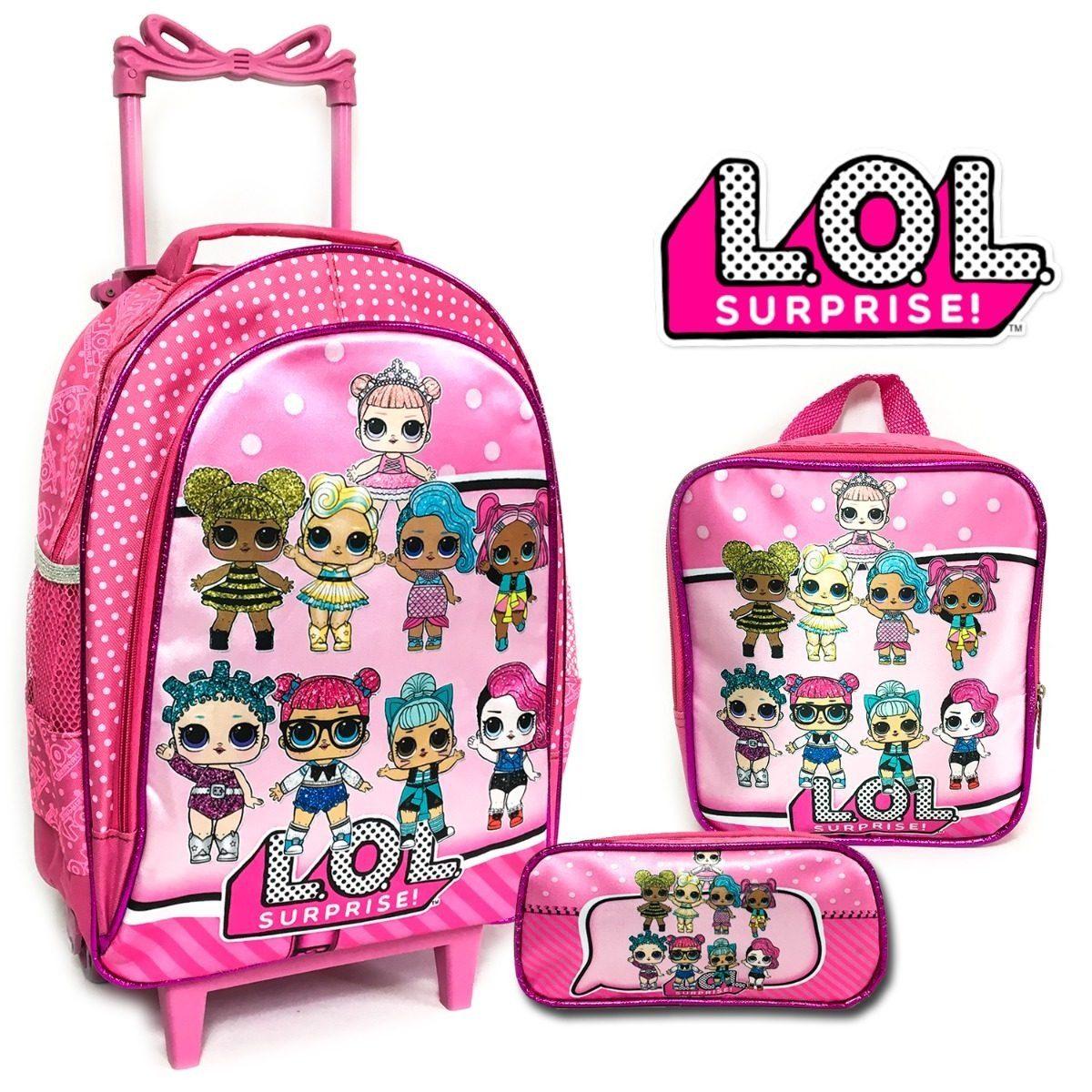 67881ad60 kit mochila rodinha infantil lol surprise lançamento 2019. Carregando zoom.
