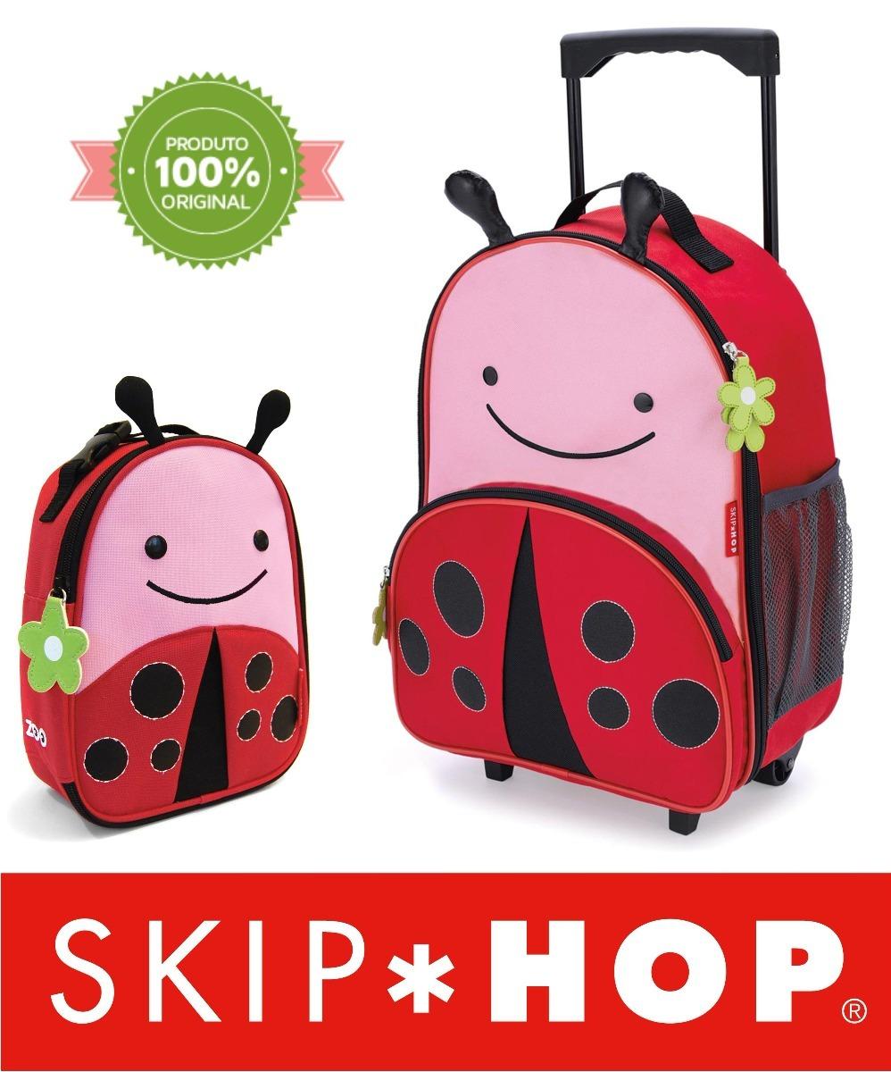62fe3993c9 kit mochila rodinha infantil skip hop zoo original joaninha. Carregando zoom .