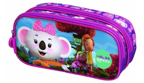 kit mochila rodinha lanc estoj lilica mundo ripilica pacific