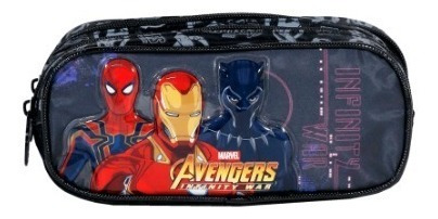 kit mochila rodinha lanch estoj avengers first strike xeryus