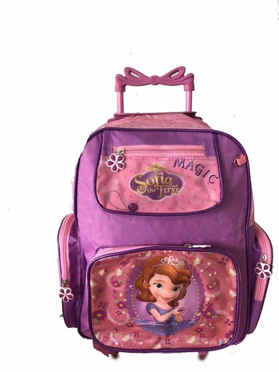 5096aa8821 kit mochila rodinha princesa sofia lancheira estojo original. Carregando  zoom.