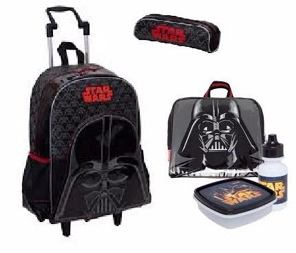 a00a3548e Kit Mochila Star Wars ( G ) + Lancheira + Estojo - Sestini - R$ 349 ...