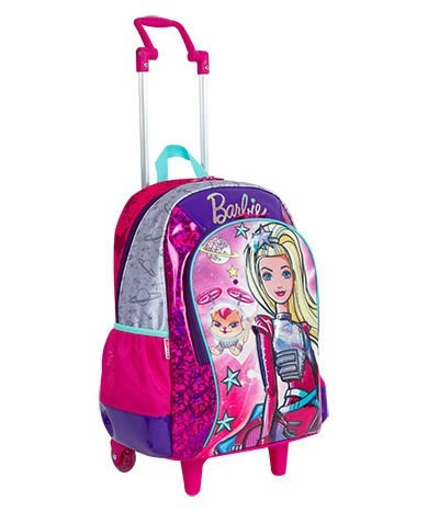 kit mochilete 2 em 1 original barbie aventura tam g + brinde