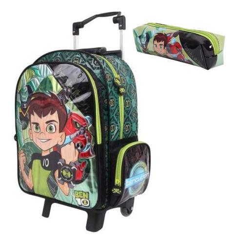 kit mochilete ben 10 30047 + estojo original mochila