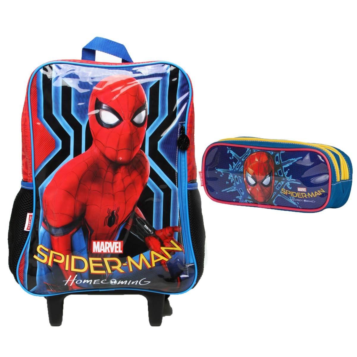 53e593c0a Kit Mochilete E Estojo Spider-man Marvel - Sestini 065061-00 - R ...