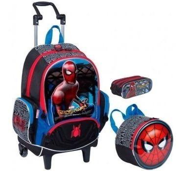 kit mochilete+ lanch +esto spider man / homem aranha - 65077