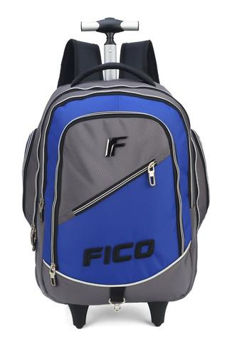 kit mochilete + lanch + estojo fico azul -51216