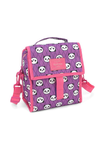 kit mochilete +lanch+estojo panda up4you lilas- 51157