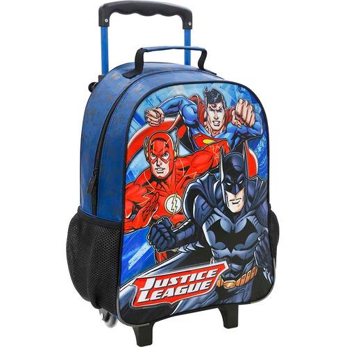 kit mochilete+lanch liga da justiça limitless m xeryus-7601