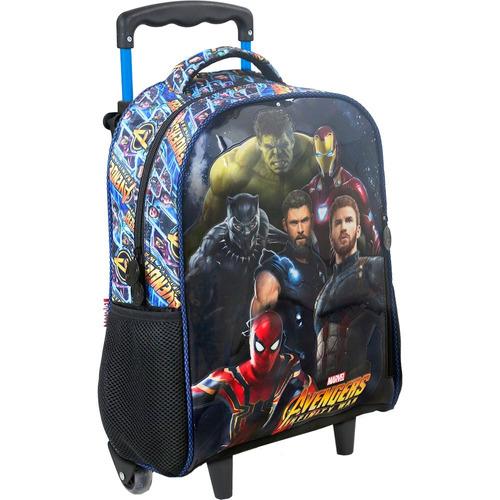 kit mochilete + lancheira  avengers fiery  g xeryus- 7460