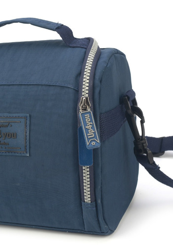 kit mochilete+lancheira+estojo  crinkle up4you azul - 51168