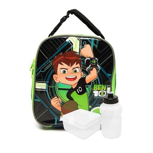 kit mochilete +lancheira g  ben10 holográfica 3d - 30028