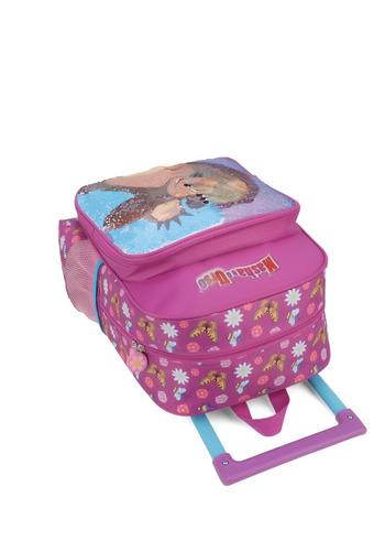 kit mochilete + lancheira  masha e o urso m lantejoula-32642