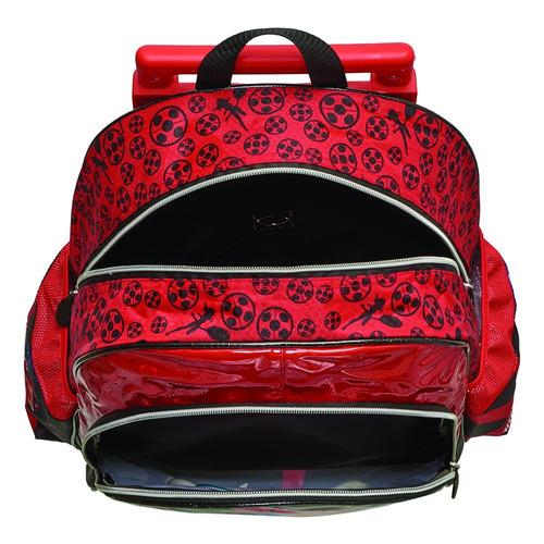 kit mochilete miraculous ladybug escolar carrinho luz de led
