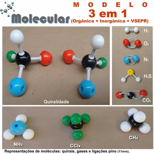 kit modelo molecular de quimica - (ll)