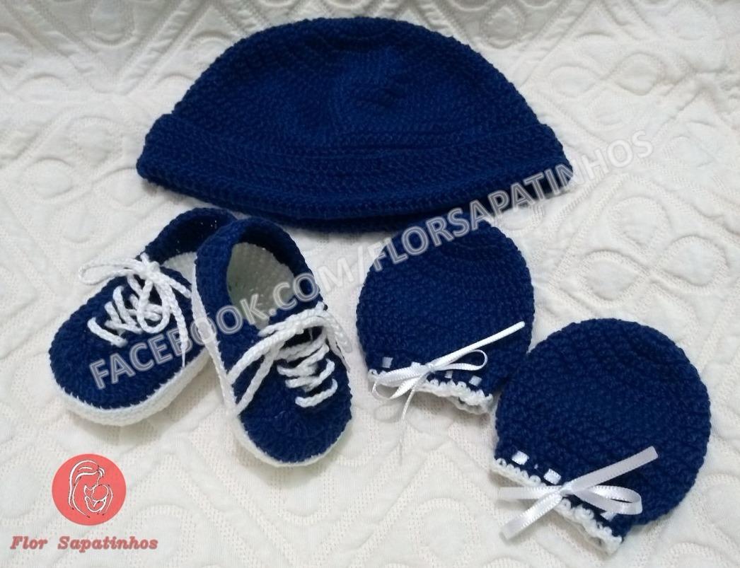 6ed17ea083 Kit Modelo Tênis Vans - Sapatinho Em Crochê Para Bebê - R$ 95,00 em Mercado  Livre