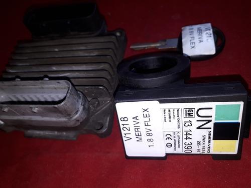 kit módulo de injeção meriva 05 1.8 8v flex 93311080 dybl