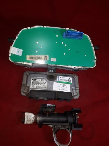 kit módulo injeção ford ká 10/11 1.0 8v flx iaw4cfr.nr v1951