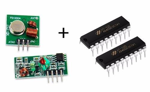 Kit Modulo Rf 433mhz Ht12e Ht12d Arduino Pic