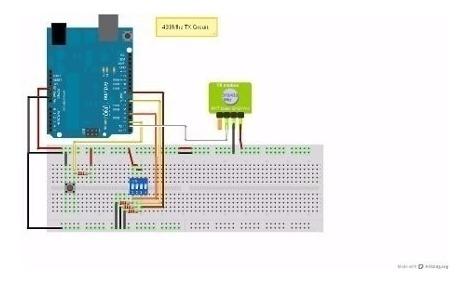 Kit Modulo Rf Emisor Y Receptor 433mhz 433 Mhz Arduino