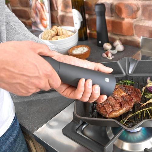 kit moedor sal e pimenta gourmet preto ceramica zwilling