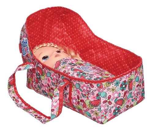 kit moises + bolsa porta fraldas baby alive hora de comer