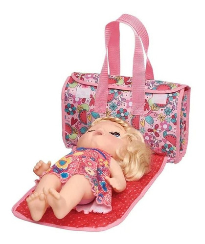 kit moises + bolsa porta fraldas troc baby alive hora comer