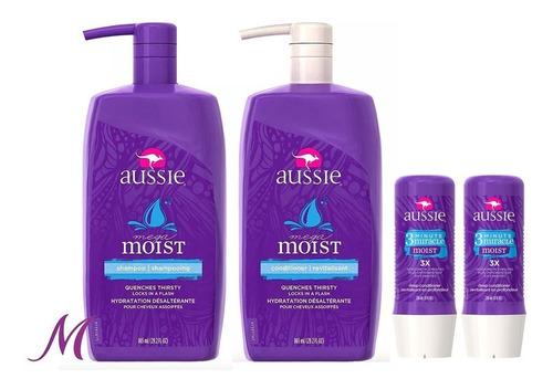 kit moist shampoo e condicionador 865ml + 2 máscaras 236ml