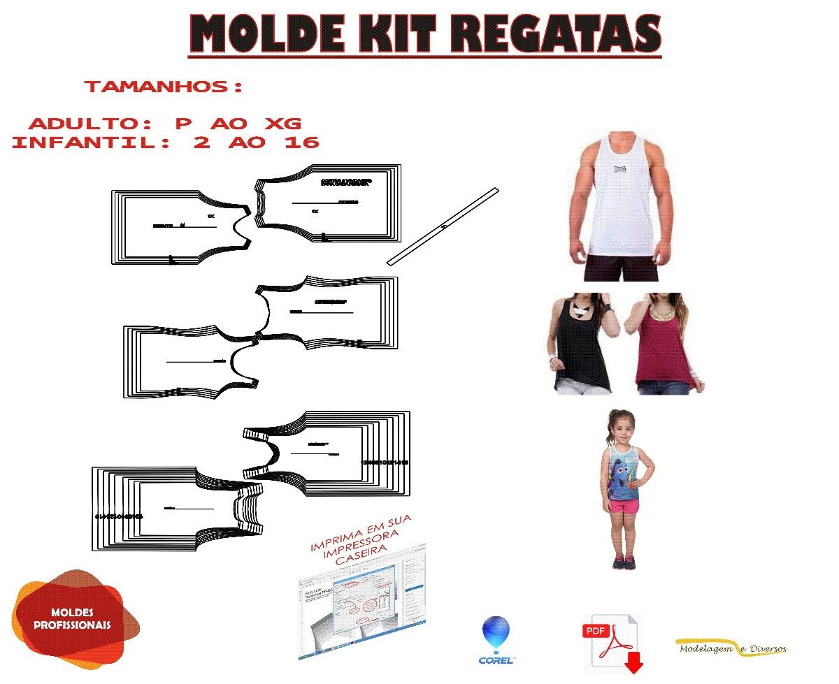 Kit Molde Regata Adulto Masc. E Fem. Infantil Menina Frt Gra - R  225 f0998acabb9