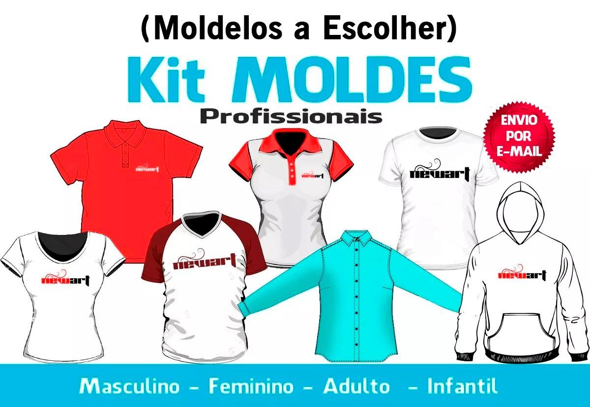 7d7edf1990 Kit Moldes - (4 Modelagens A Escolha) Moldes Digitais - R  45
