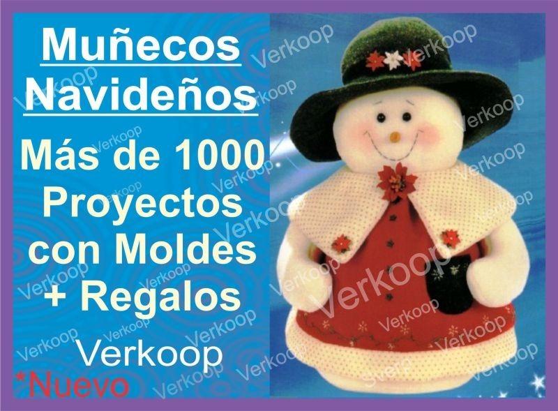Kit Moldes De 1000 Peluches Munecos Navidenos En Espanol