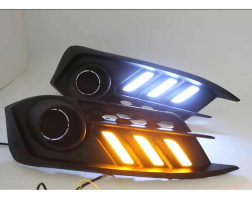 kit moldura luz diurna civic 2016/17 luz de neblina mod 2019