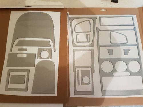 kit molduras de tablero consola astra 1.8 2.0 y 2.2 plateado