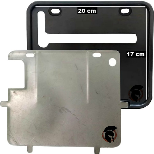 kit molduras suportes placa nova grande 20 x 17cm moto 2426