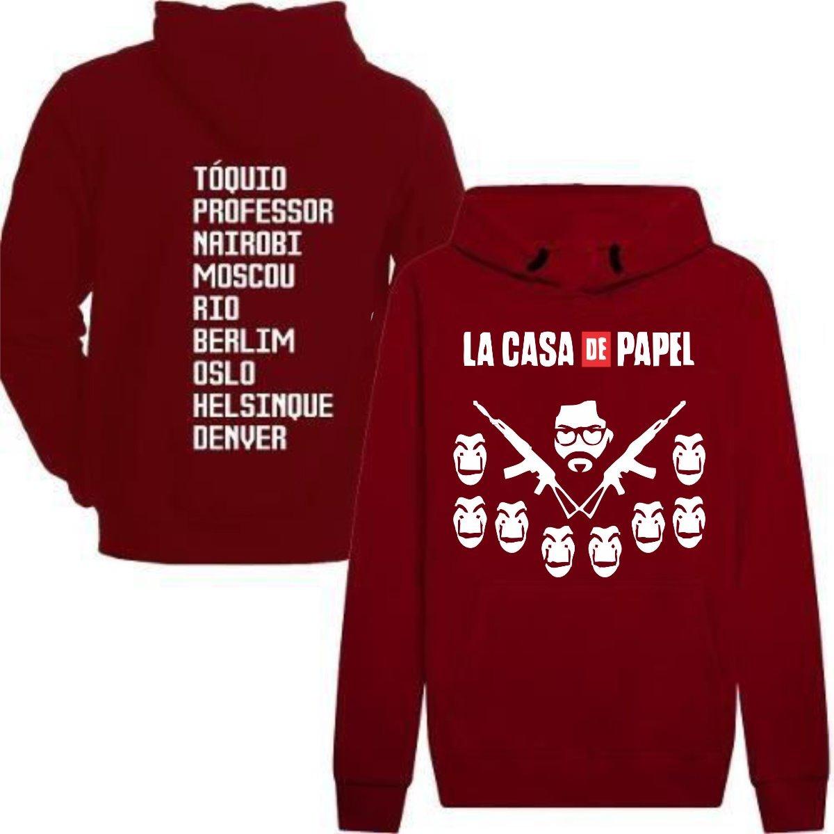 Kit Moletom + Camiseta + Boné La Casa De Papel Promoção - R  130 0989adee4e9