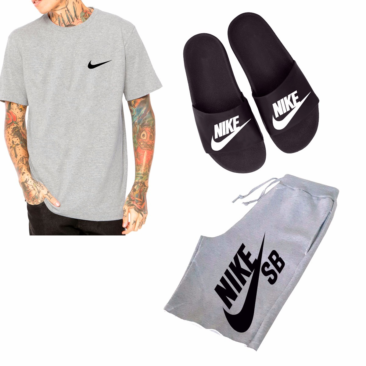 Kit Moletom Camiseta + Chinelo + Short Nike Sb Promoção !! - R  167 ... 370fb0eb3be22
