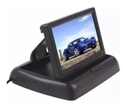 kit monitor retrátil + sensor prata câmera corsa sedan