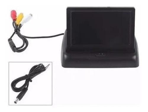 kit monitor retrátil + sensor vermelho + câmera chevette