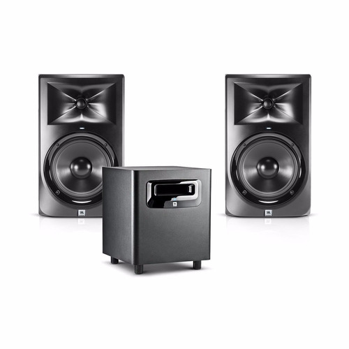 kit monitores jbl lsr305 + sub-woofer ls310s