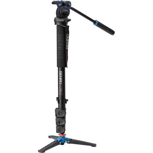 kit monopé benro p/ vídeo a38fds2 c/ cabeça fluido + pés