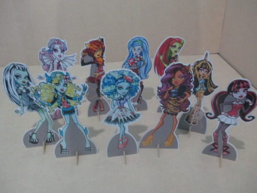 kit monster high,30 display de mesa de 15 cm,festa